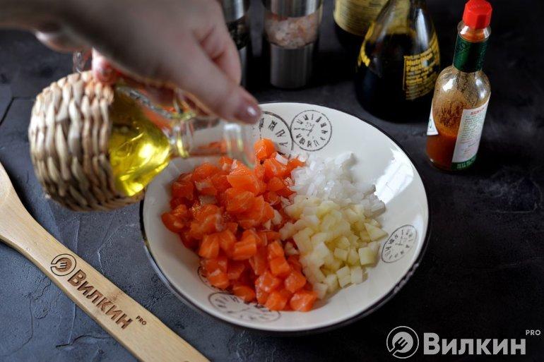 Вливание оливкового масла