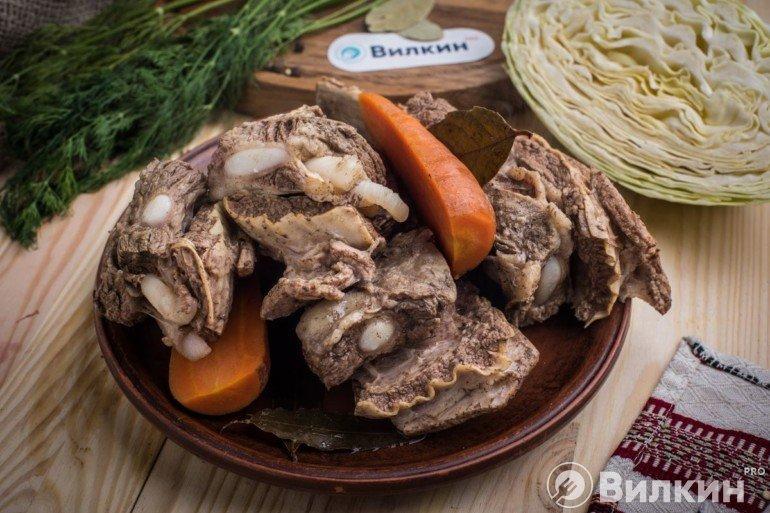 Мясо из бульона