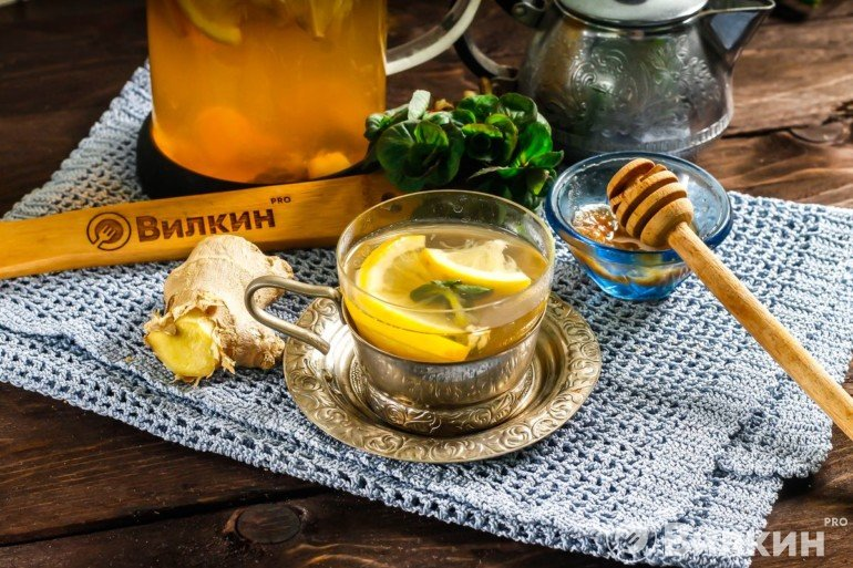 Диетический чай с имбирем и лимоном