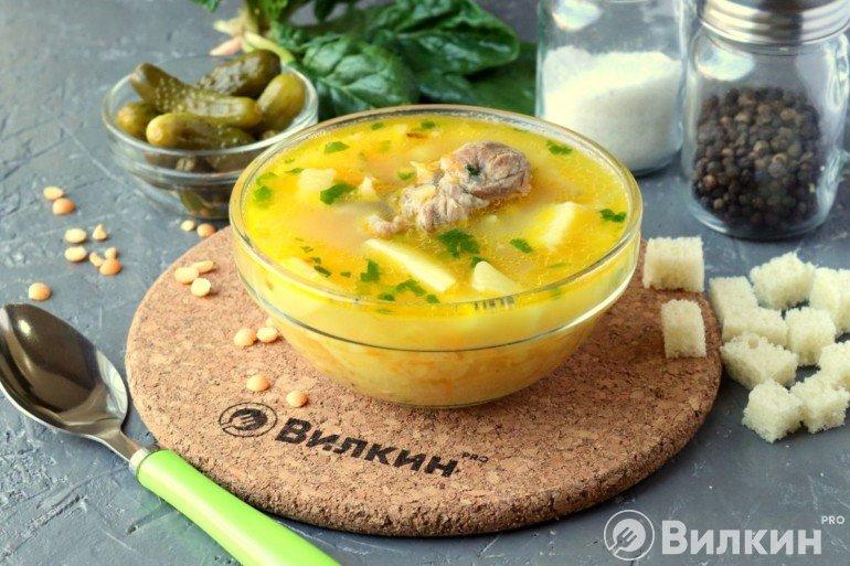 Гороховый суп с картошкой и мясом