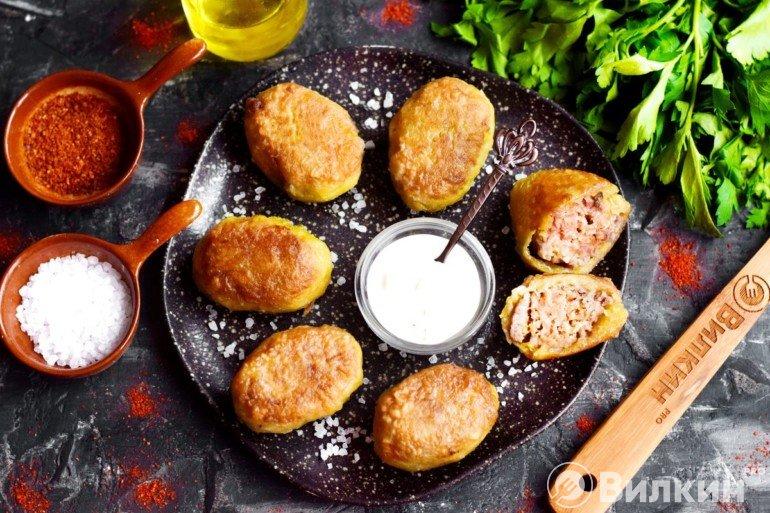 Картофельные колдуны с фаршем