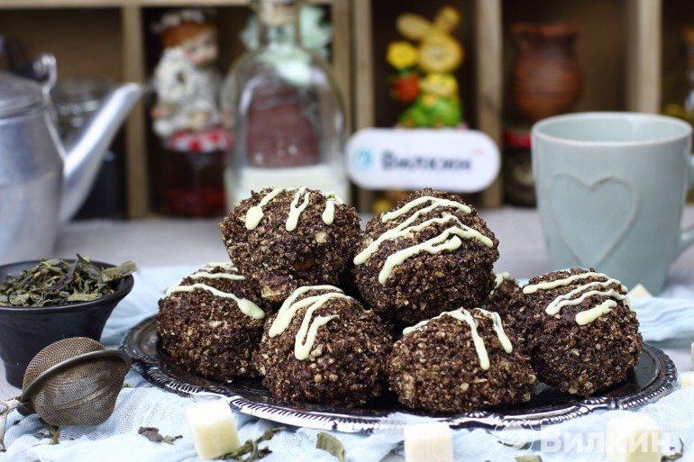 Печенье с кокосовой стружкой в шоколаде