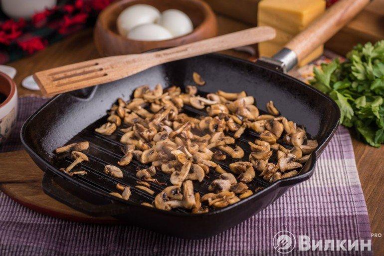 Обжарка грибов