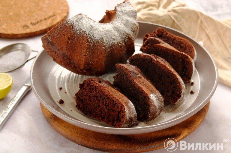 Постный кекс с какао