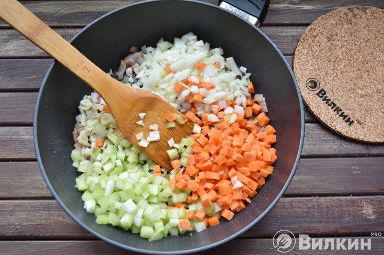 Закладка овощных нарезок
