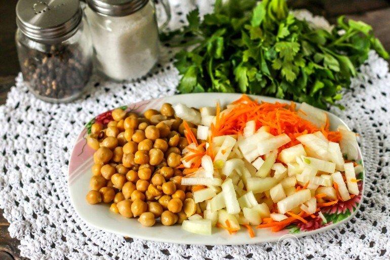 Овощи и нут