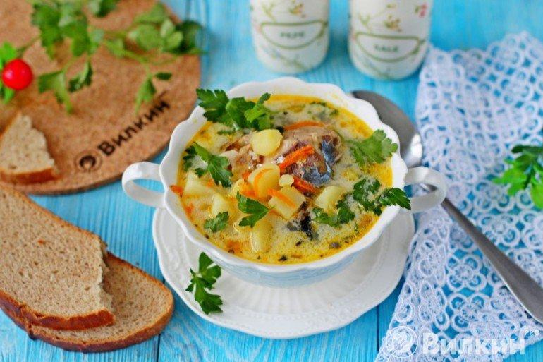Суп из консервированной скумбрии