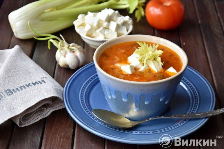 Греческий суп из чечевицы