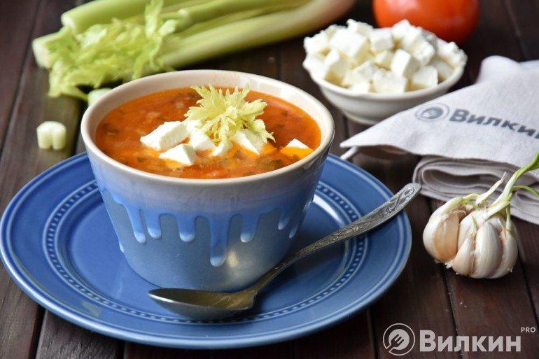 Греческий чечевичный суп