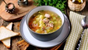 Суп с копченой курицей