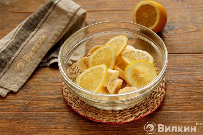 Бананы и лимонные кольца