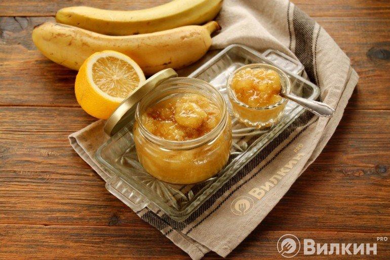 Варенье из бананов и лимона