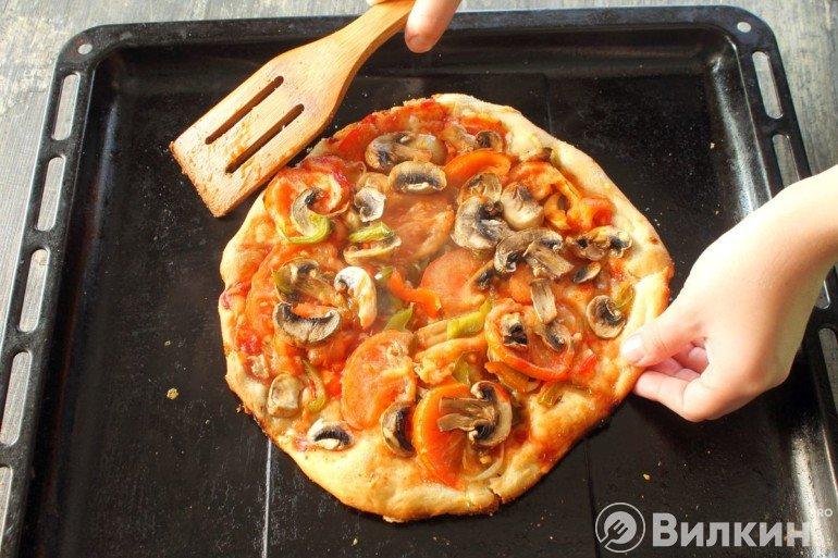 Готовая пицца для вегетарианцев