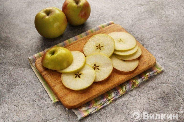 Кружки из яблок