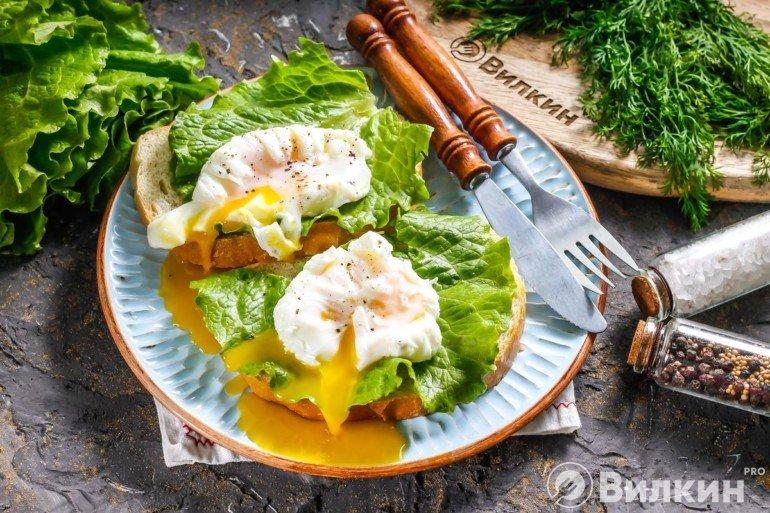 Яйца пашот в пищевой плёнке