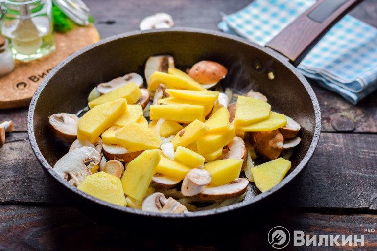 Добавление картошки