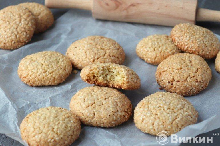 Кунжутное печенье в домашних условиях
