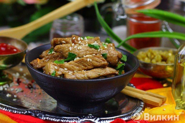 Жареная свинина по-корейски