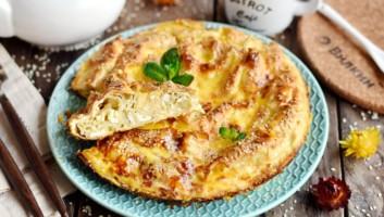 Пирог из лаваша «Мятый» с творогом и сыром