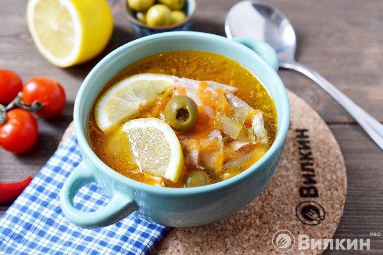 Рыбная солянка на обед