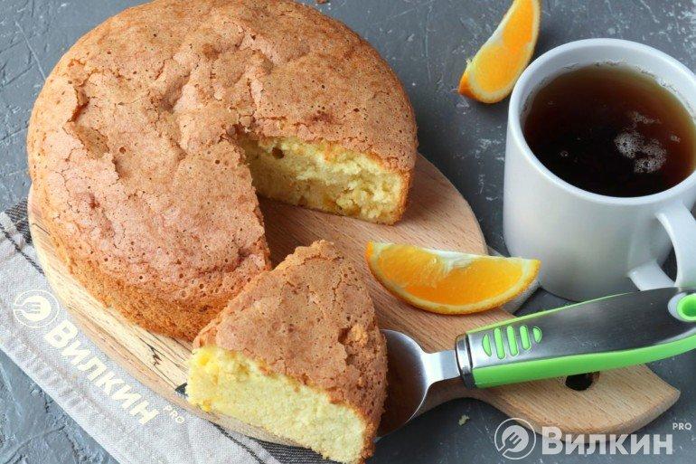 Апельсиновый пирог шарлотка
