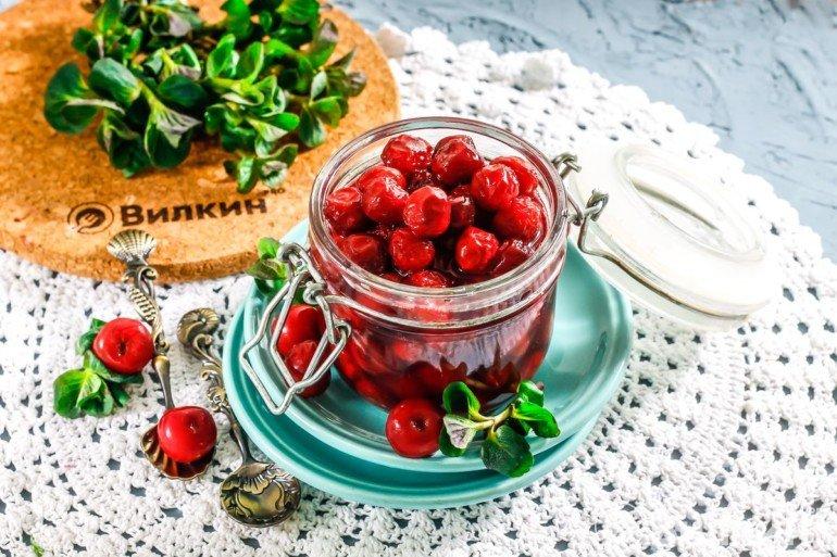Варенье из вишни с косточкой «Пятиминутка»