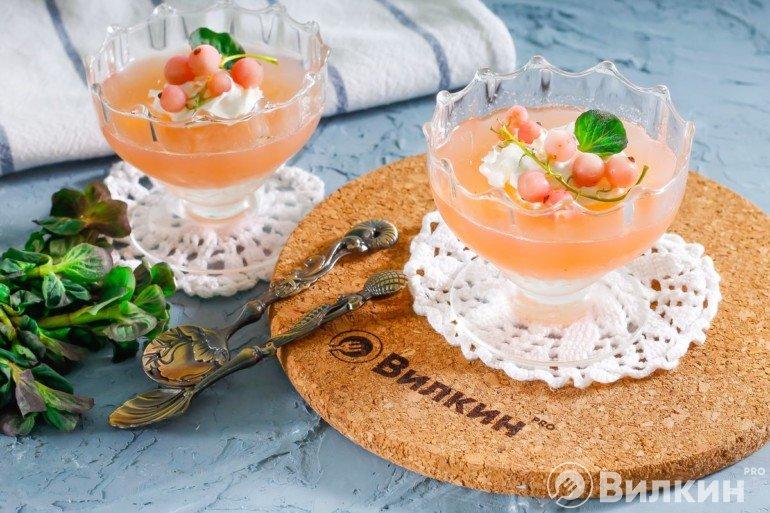 Десертное желе из белой смородины