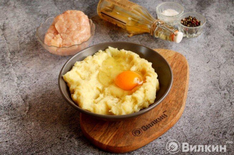 Пюре с яйцом