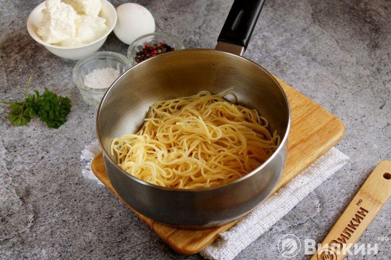 Вареные спагетти