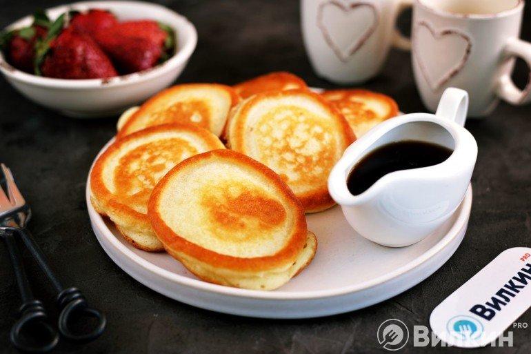 Домашние оладьи на завтрак