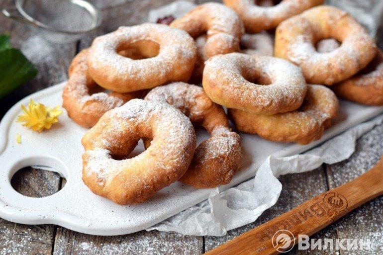 Пончики на кефире в домашних условиях