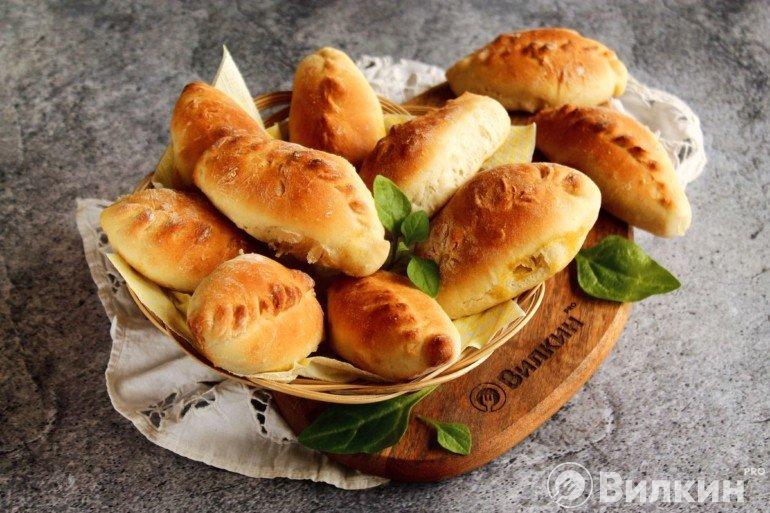 Пирожки с капустой на постный стол