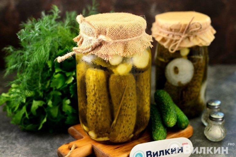Вкусные огурцы в банках на зиму