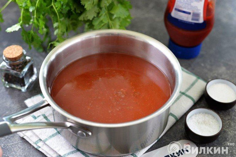 Маринад с кетчупом