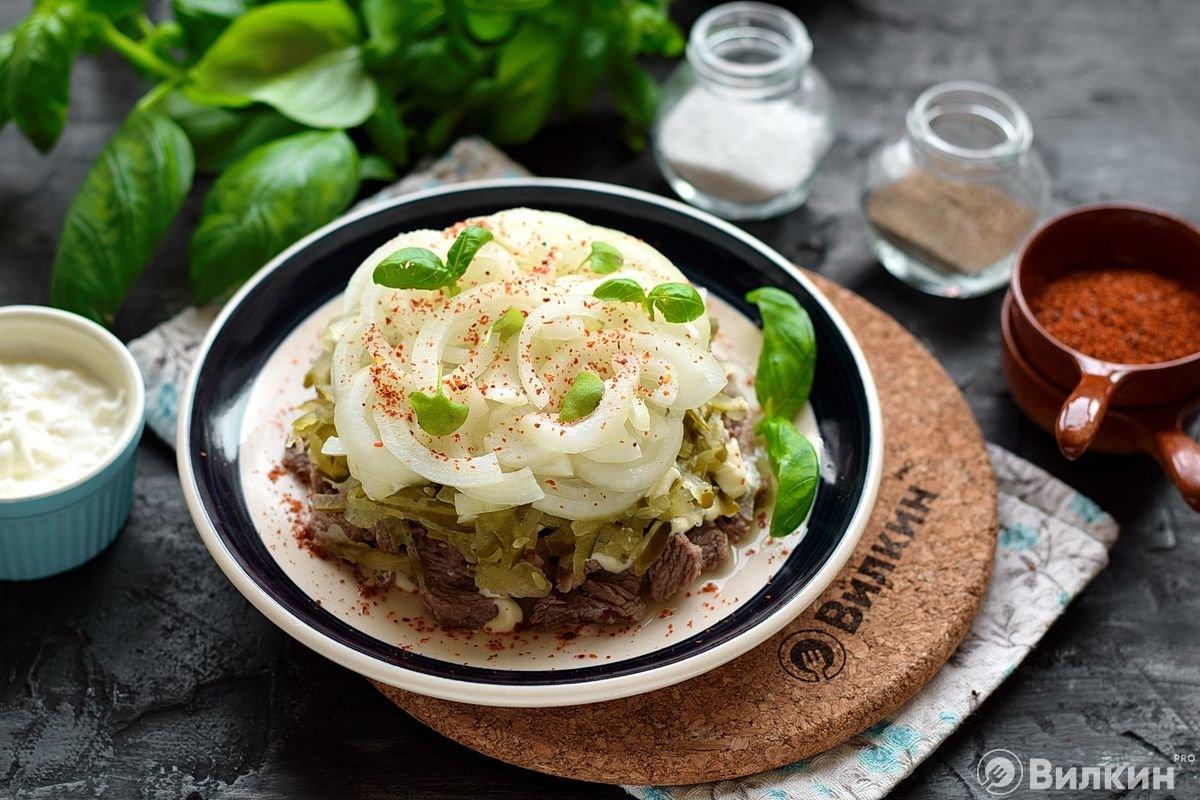 нужно посыпать салат мужская слеза рецепт с фото пошагово следующей