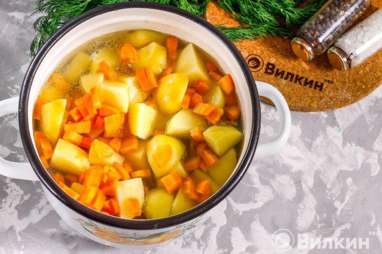 Картофель, морковь, лук