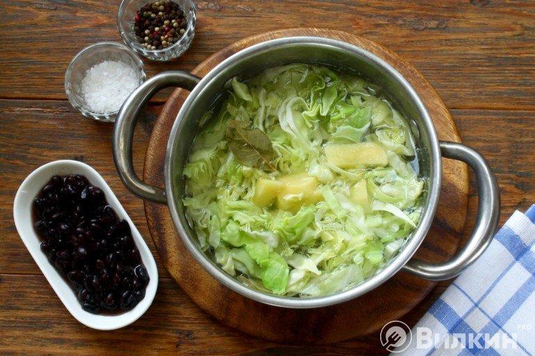 Закладка картофеля и капусты