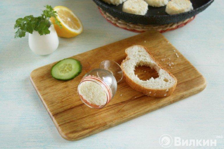 Вырубка хлебных кружков