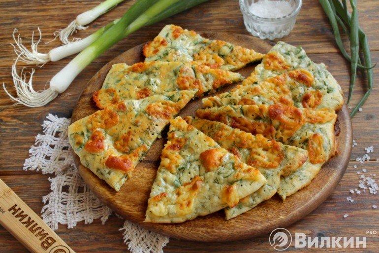 Лепешки с сыром и зеленью в духовке
