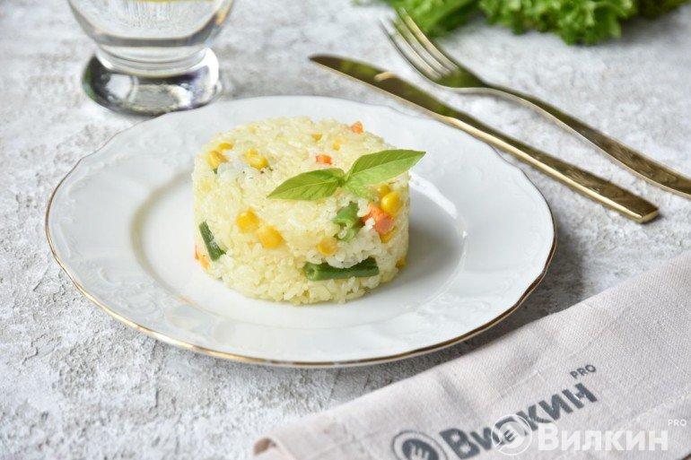 Рис с овощами на ужин