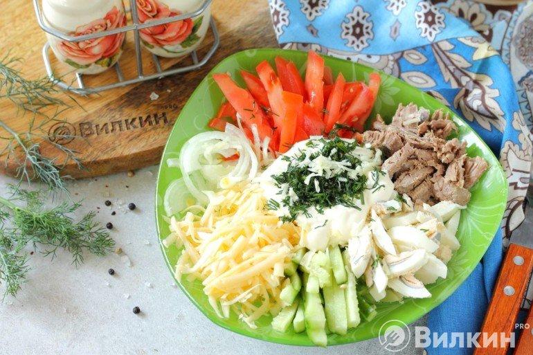 Узбекский салат «Бахор»