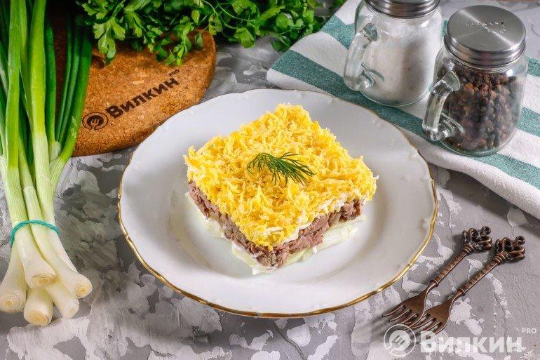 Салат «Мужской каприз» с говядиной