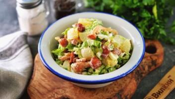 Салат с опятами маринованными