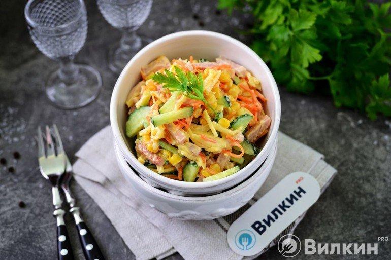 Салат «Венеция» с корейской морковью