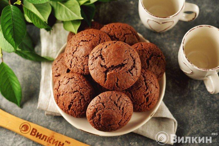 Шоколадное печенье на завтрак или для перекуса