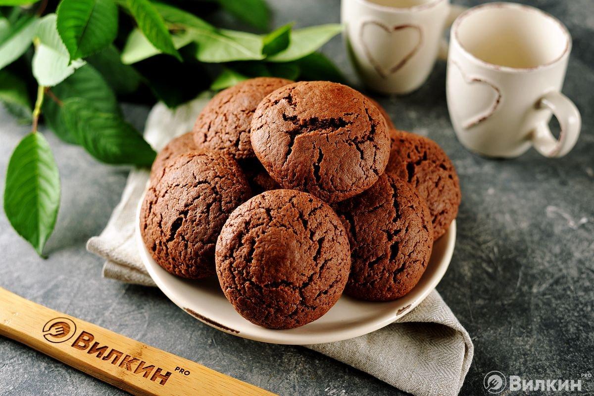 фото рецепт печенья шоколадного днём