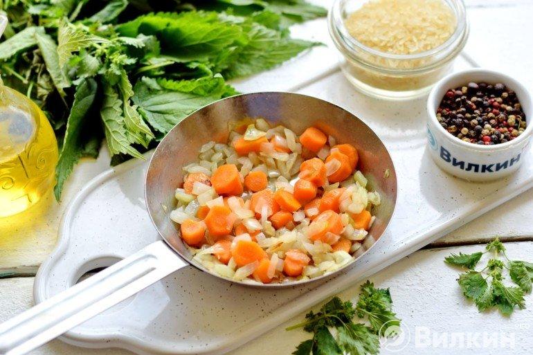Пассеровка моркови и лука