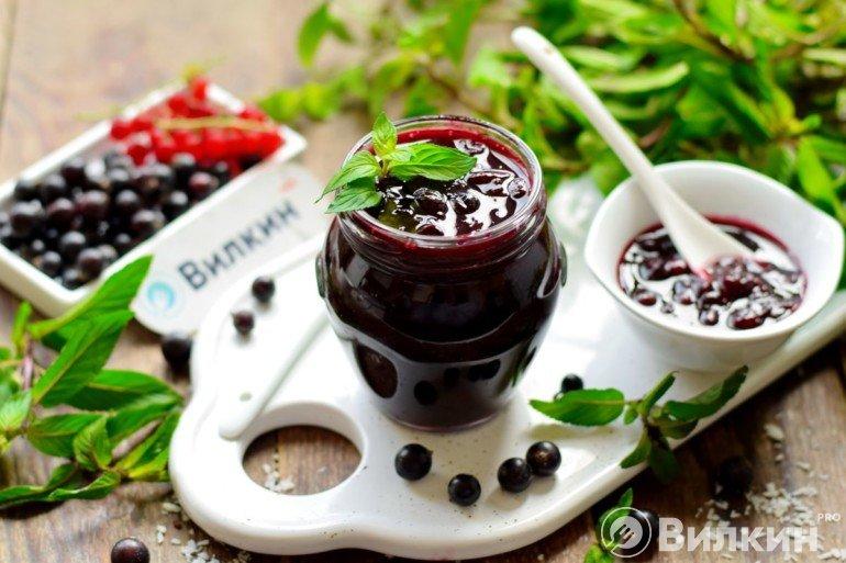 Варенье «Пятиминутка» из черной смородины на зиму