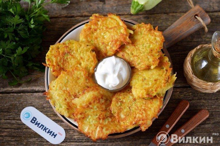 Драники с картошкой и кабачком