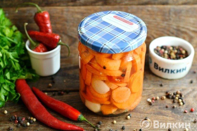 Морковь в маринаде на зиму